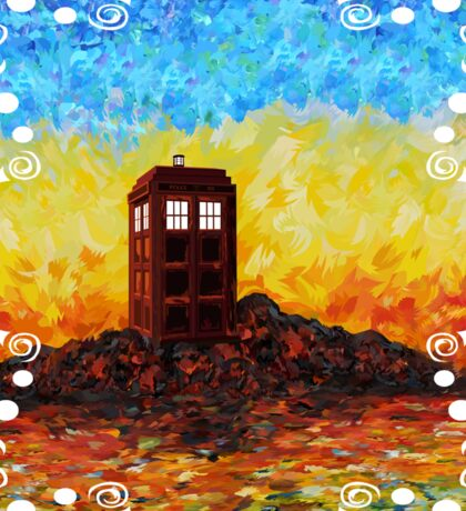 Time travel Phone booth in the Twilight zone art painting Sticker