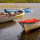 Fishing Boats In The Evening Sun by Fara