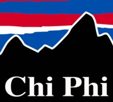 Chi Phi Red White and Blue Sticker