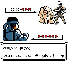 Metal Gear Pokemon - Gray Fox Photographic Print