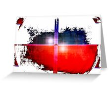 Red and Blue on White Greeting Card