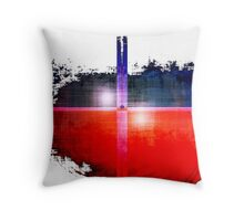 Red and Blue on White Throw Pillow