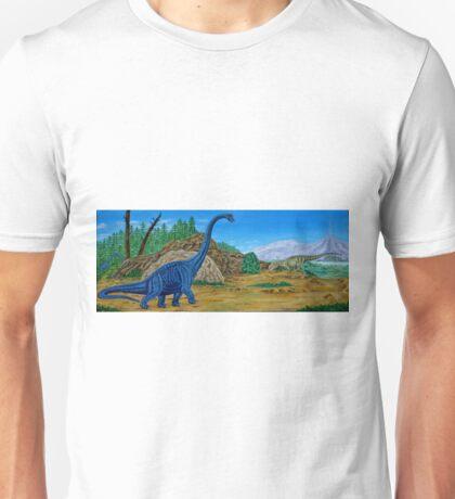 Brachiosaurus and Allosaurus Unisex T-Shirt