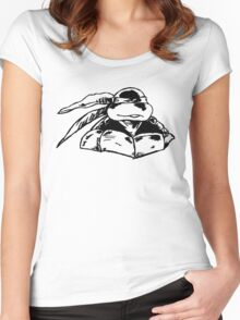 Raphael Standing Guard Women's Fitted Scoop T-Shirt