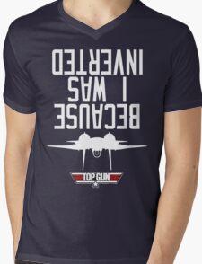 Top Gun I Was Inverted Mens V-Neck T-Shirt