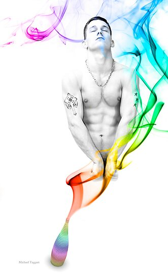 Genie Day - gay art male art by Michael Taggart