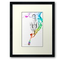 Genie Day - gay art male art Framed Print