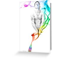 Genie Day - gay art male art Greeting Card