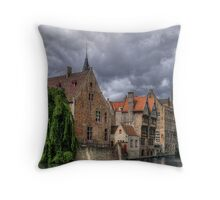 Brugge - Flanders in HDR  (ENLARGE!) Throw Pillow
