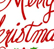 Merry Christmas by Jan Marvin Sticker