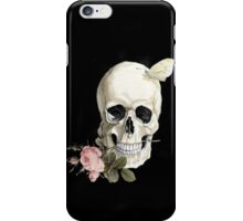 With a Rose between my Teeth iPhone Case/Skin