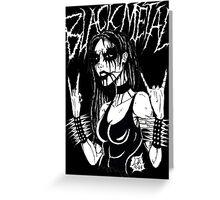 Black Metal Chick Greeting Card