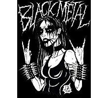 Black Metal Chick Photographic Print