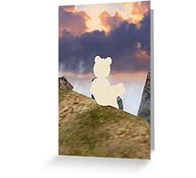 teddy bear watching the sky Greeting Card