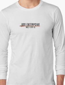 """Star Trek """"USS Enterprise  - D"""" Insignia Long Sleeve T-Shirt"""