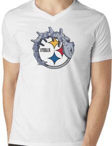 Pittsburgh Steelix T-Shirt Mens V-Neck T-Shirt