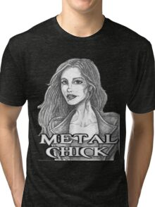 Metal Chick Tri-blend T-Shirt