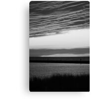 Black and White Sunset II Canvas Print