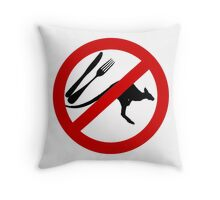 Don't eat Kangaroos Throw Pillow