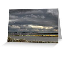 Dark clouds above Lake Grevelingen Greeting Card