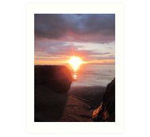 Hidden Star, Donegal Sunset, July 2012 Art Print