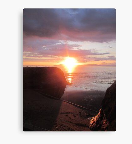 Hidden Star, Donegal Sunset, July 2012 Canvas Print