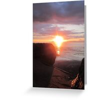 Hidden Star, Donegal Sunset, July 2012 Greeting Card