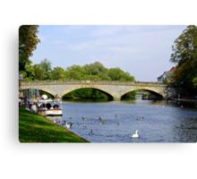Workman Bridge and The River Avon  Canvas Print