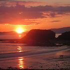 Donegal Sunset, Dogs out Walking, July 2012 by ArleneMartine