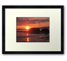Donegal Sunset, Dogs out Walking, July 2012 Framed Print