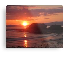 Donegal Sunset, Dogs out Walking, July 2012 Metal Print