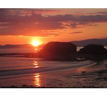 Donegal Sunset, Dogs out Walking, July 2012 Photographic Print