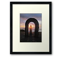 Donegal Sunset, Celtic Beams, July 2012 Framed Print