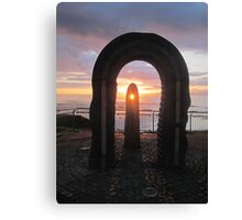 Donegal Sunset, Celtic Beams, July 2012 Canvas Print