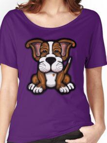 Puppy Cartoon Dog  Women's Relaxed Fit T-Shirt