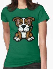 Puppy Cartoon Dog  Womens Fitted T-Shirt