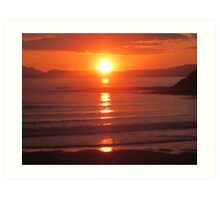 Donegal Sunset 6, July 2012 Art Print