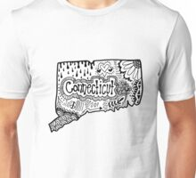 Connecticut State Zentangle Unisex T-Shirt
