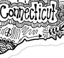 Connecticut State Zentangle Sticker
