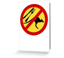 Don't eat Kangaroos (yellow) Greeting Card