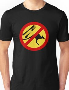 Don't eat Kangaroos (yellow) Unisex T-Shirt