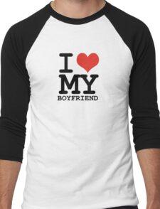 I love my boyfriend Men's Baseball ¾ T-Shirt