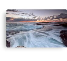 Distant Fishermen - Little Bay, NSW Canvas Print