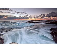 Distant Fishermen - Little Bay, NSW Photographic Print