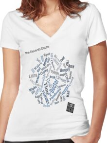 The Eleventh Doctor - Title Montage Women's Fitted V-Neck T-Shirt