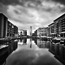 Clarence Dock (Black & White) by ThePingedHobbit