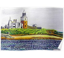 352 - COQUET ISLAND - DAVE EDWARDS - COLOURED PENCILS & INK - 2012 Poster