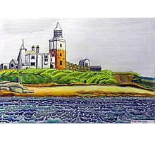 352 - COQUET ISLAND - DAVE EDWARDS - COLOURED PENCILS & INK - 2012 Photographic Print