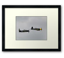 Bearcat and Corsair Framed Print