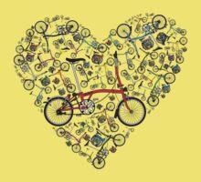 I Love Brompton Bikes Baby Tee